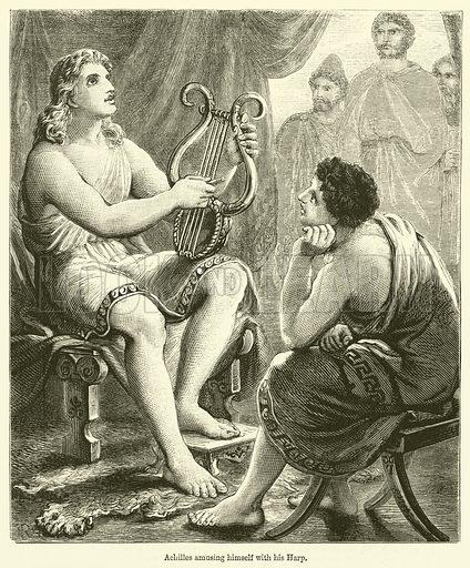 Achilles amusing himself with his Harp