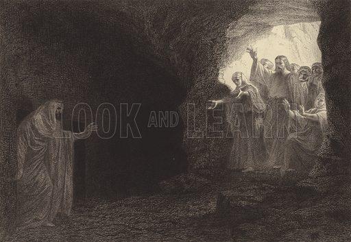 """Lazarus, come forth!"" Illustration for The Gospel according to Saint John (Sampson Low, 1873)."