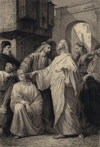 Jesus healeth the Deaf Man. Illustration for The Gospel according to Saint Mark (Sampson Low, 1875).