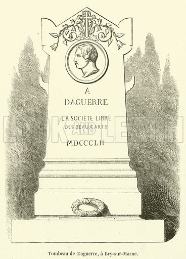 Tombeau de Daguerre, a Bry-sur-Marne. Illustration for L'Illustration, Journal Universel, 11 December 1852.