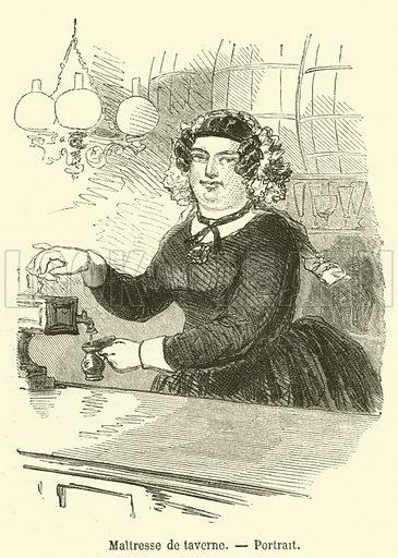 Maitresse de taverne, Portrait. Illustration for L'Illustration, Journal Universel, 20 July 1850.