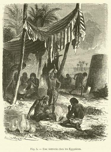 Une verrerie chez les Egyptiens