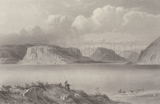 The Sea of Galilee. Illustration for The Holy Bible edited by Donald Macleod (Virtue, c 1890).