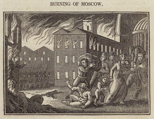 Burning of Moscow. Illustration for The Terrific Register (Sherwood, Jones, 1825).