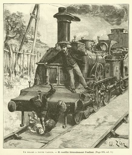Un Drame A Toute Vapeur. Illustration for Journal Des Voyages, 21 August 1892.