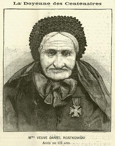 The widow of Daniel Rostkowski, 112 years old