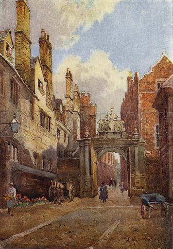 Nevile's Gate, Trinity College - Look and Learn History Picture Library