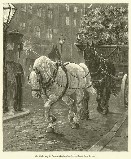 On their way to Covent Garden Market without their Driver