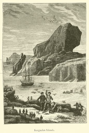 Kerguelen Islands. Illustration for The Great Navigators of the Eighteenth Century by Jules Verne (Sampson Low, 1880).