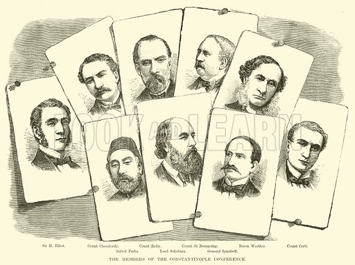 The Members of the Constantinople Conference. Illustration for The Life of William Ewart Gladstone by George Barnett Smith (Cassell, c 1890).