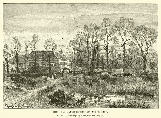 "The ""Old Manor House,"" Barnes Common. Illustration for The English Illustrated Magazine (Macmillan, 1885-86)."