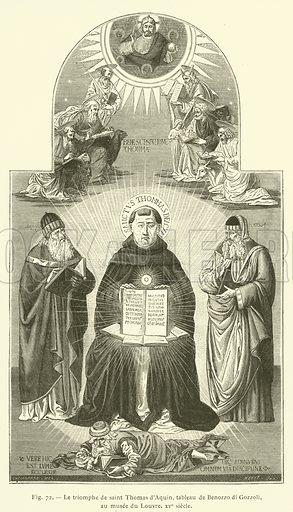 Le triomphe de saint Thomas d'Aquin. Illustration for L'Ecole et La Science Jusqu'a La Renaissance (Firmin-Didot, 1893).