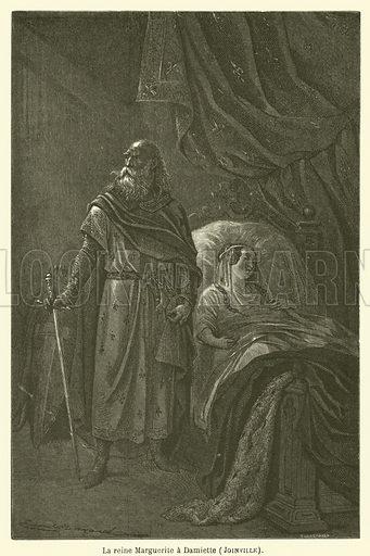 La reine Marguerite a Damiette, Joinville. Illustration for Le Tresor Litteraire de la France (Hachette, 1866).
