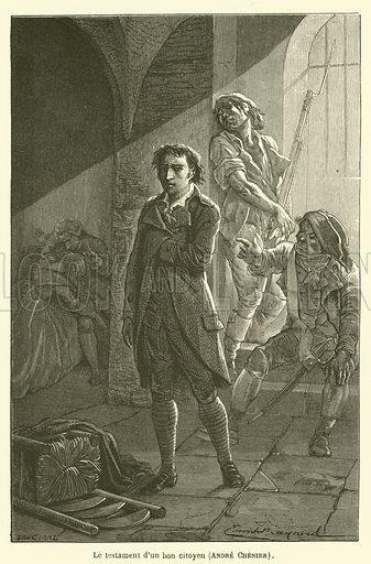 Le testament d'un bon citoyen, Andre Chenier. Illustration for Le Tresor Litteraire de la France (Hachette, 1866).