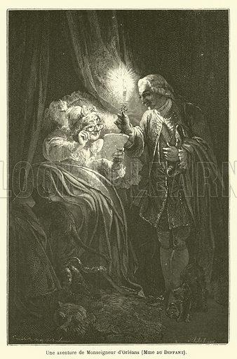 Une aventure de Monseigneur d'Orleans, Madame du Deffant. Illustration for Le Tresor Litteraire de la France (Hachette, 1866).