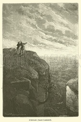 L'Abenaki, Saint-Lambert. Illustration for Le Tresor Litteraire de la France (Hachette, 1866).