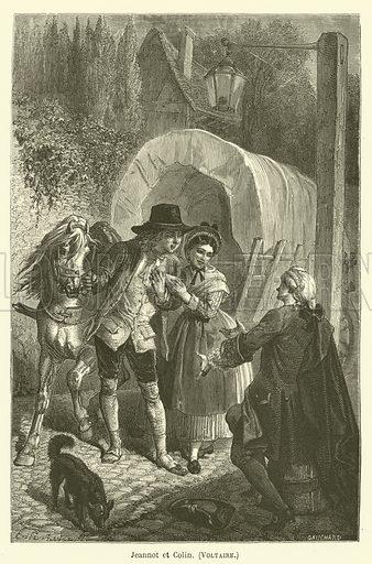 Jeannot et Colin, Voltaire. Illustration for Le Tresor Litteraire de la France (Hachette, 1866).