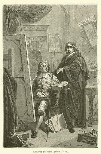 Eustache Le Sueur, Louis Vitet. Illustration for Le Tresor Litteraire de la France (Hachette, 1866).
