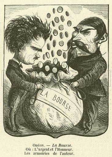 La Bourse. Illustration for L'Illustration, Journal Universel, 12 July 1856.