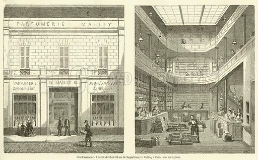 Etablissement et depot d'echantillons de la parfumerie Mailly, a Paris, rue d'Enghien