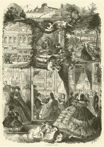Le paradis a Paris. Illustration for L'Illustration, Journal Universel, 18 January 1862.