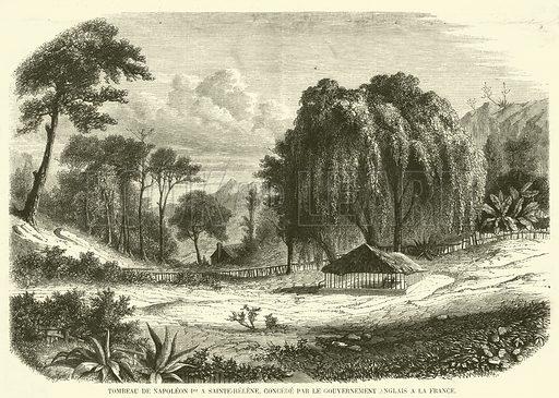 Tombeau de Napoleon Ier a Sainte-Helene, concede par le gouvernement anglais a la France. Illustration for L'Illustration, Journal Universel, 19 June 1858.