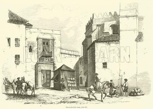 Maison de don Juan, a Seville. Illustration for L