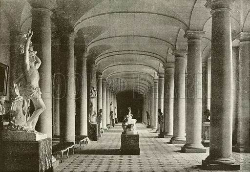 Compiegne, Salle des Colonnes. Illustration for Album National (Boulanger, c 1900).