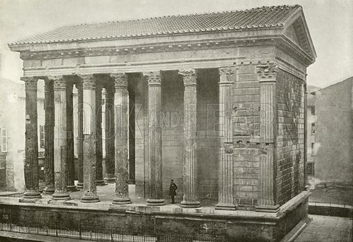Vienne, Temple de Livie et d'Auguste. Illustration for Album National (Boulanger, c 1900).