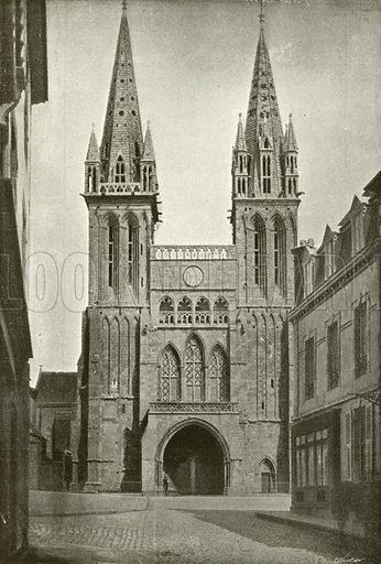 Saint-Pol-de-Leon, Ancienne Cathedrale. Illustration for Album National (Boulanger, c 1900).