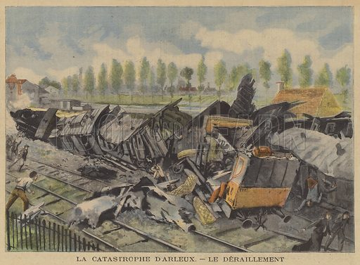 Catastrophic train derailment at Arleux, France. La Catastrophe D
