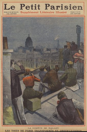 Meteore , comete et asteroidi  M523967_Parisians-watching-Halleys-Comet-from-the-citys-rooftops