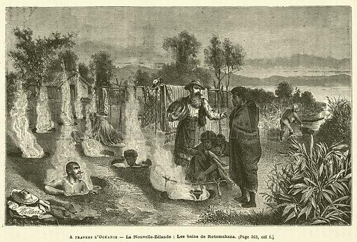 A Travers L'Oceanie. Illustration for Journal Des Voyages, 11 December 1881.