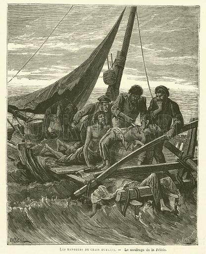 Les Mangeurs De Chair Humaine. Illustration for Journal Des Voyages, 17 March 1878.