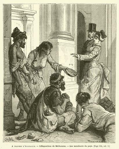 A Travers L'Australie. Illustration for Journal Des Voyages, 12 June 1881.