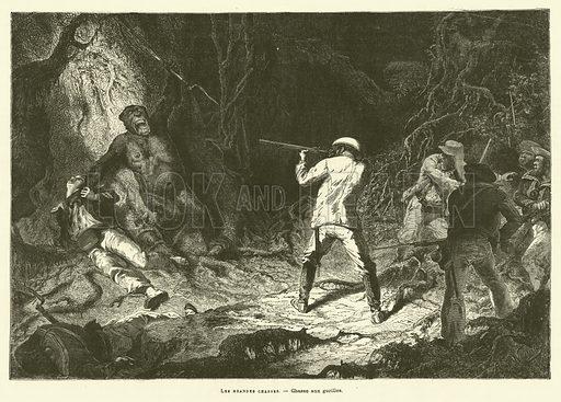 Les Grandes Chasses. Illustration for Journal Des Voyages, 11 August 1878.