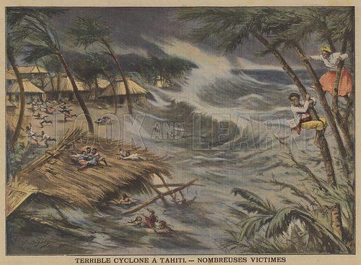 Terrible cyclone at Tahiti