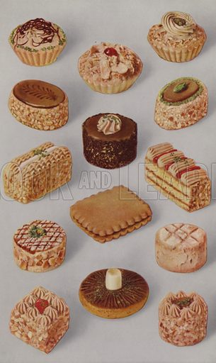 Illustration for a brochure entitled Marzipan published by John F Renshaw & CO Ltd, Mitcham, Surrey, England, c 1930s.