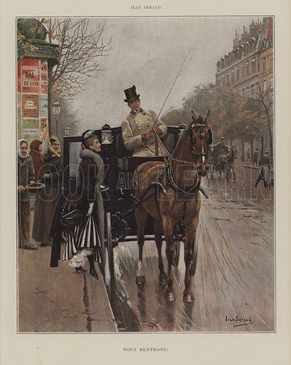 Nous Rentrons! Illustration from Le Figaro Illustre, April 1890.