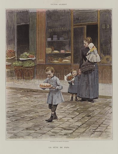 La Fete de Papa. Illustration from Le Figaro Illustre, August 1891.