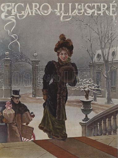 Pour les Bebes (For the Babies). Cover of Le Figaro Illustre, January 1893.