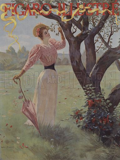 Dans le Verger (In the Orchard). Cover of Le Figaro Illustre, October 1893.