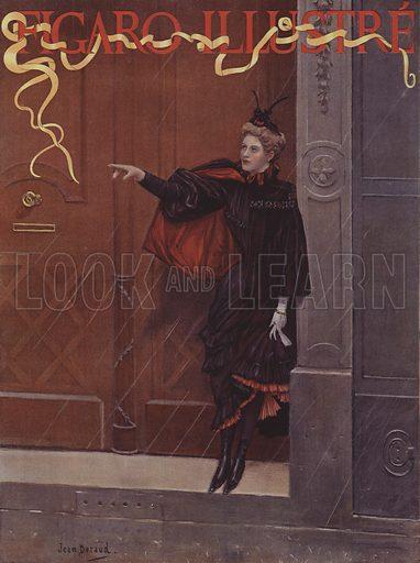 Pleut-il? (Is it Raining?) Cover of Le Figaro Illustre, November 1893.