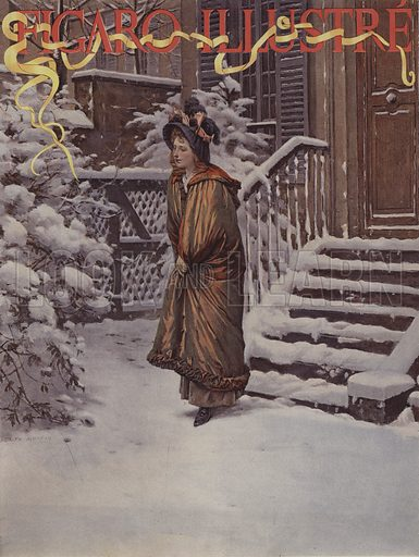 Premiere Neige (First Snow). Cover of Le Figaro Illustre, January 1894.