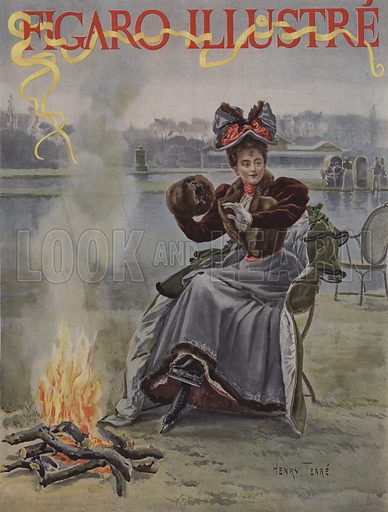 Au Cercle des Patineurs. Cover of Le Figaro Illustre, January 1895.