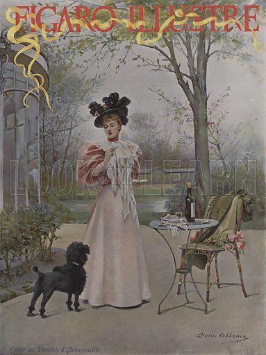 Gouter au Pavillon d'Armenonville (Tasting at the Pavillon d'Armenonville). Cover of Le Figaro Illustre, May 1895.