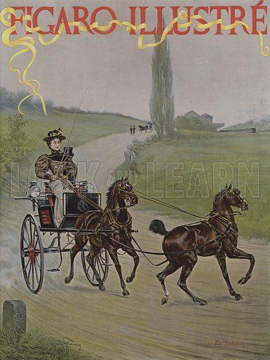 En Tandem. Cover of Le Figaro Illustre, June 1895.