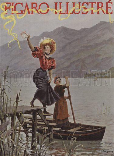 Au Lac du Bourget. Cover of Le Figaro Illustre, September 1895.