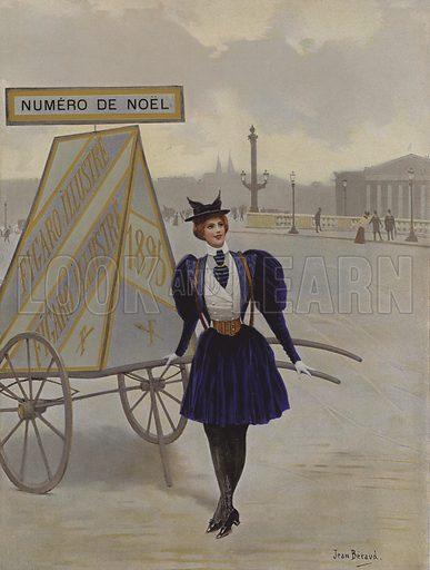 La Reclame de l'Avenir (Advertising of the Future). Cover illustration from Le Figaro Illustre, December 1895.