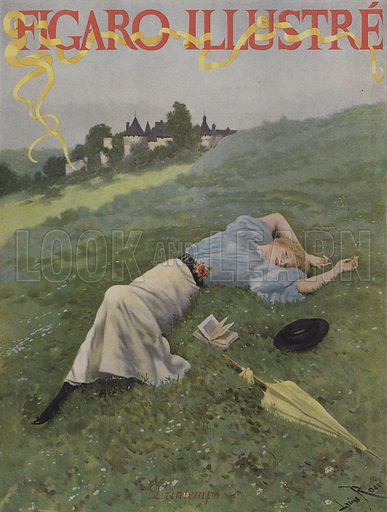 Printemps (Spring). Cover of Le Figaro Illustre, May 1896.